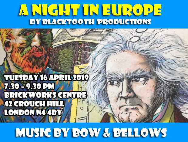 A NIGHT IN EUROPE with Bow & Bellows 2019