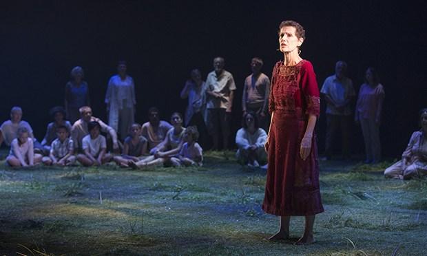 'Memorial' at the Barbican 2018: Helen Morse as narrator. (Photo: Shane Reid)